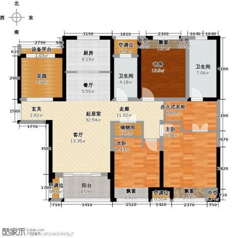 世茂香槟湖3室0厅2卫1厨135.00㎡户型图