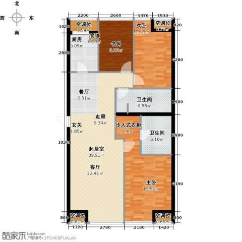 UHN国际村3室0厅2卫1厨144.00㎡户型图