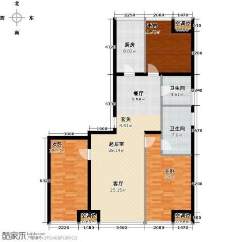 UHN国际村3室0厅2卫1厨150.00㎡户型图