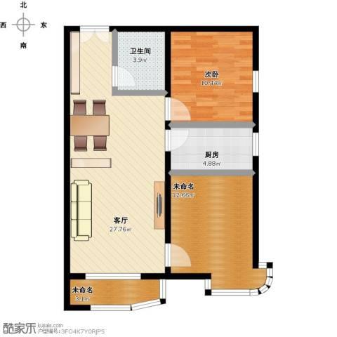 天洋城4代1室1厅1卫1厨90.00㎡户型图