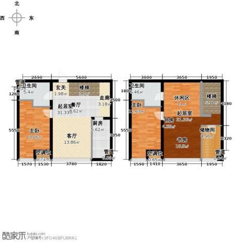 UHN国际村2室0厅2卫1厨159.00㎡户型图