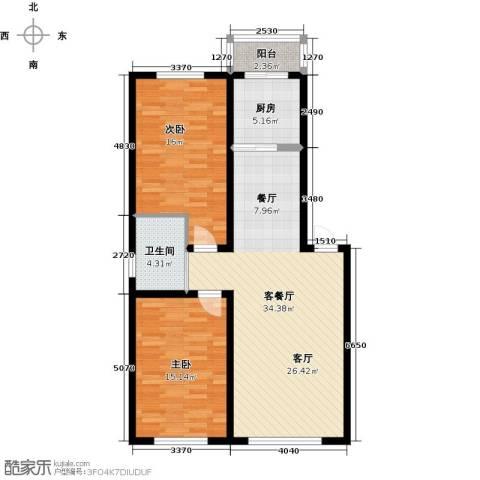 宏业・都市华庭2室1厅1卫1厨110.00㎡户型图