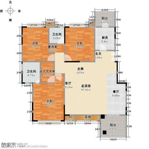 美好家园3室0厅2卫1厨161.00㎡户型图
