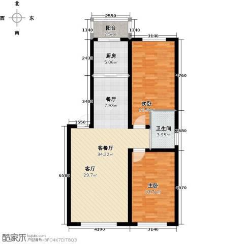 宏业・都市华庭2室1厅1卫1厨105.00㎡户型图