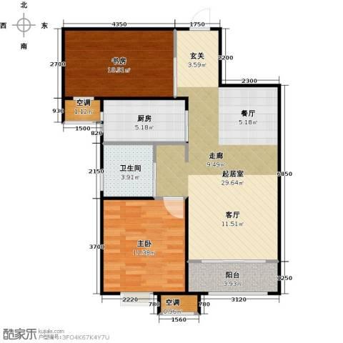 中建城2室0厅1卫1厨87.00㎡户型图