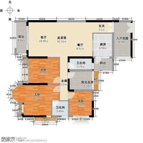 龙汇・领峰3室0厅2卫1厨172.00㎡户型图