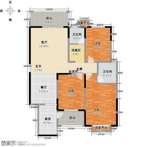 华富世家3室0厅2卫1厨153.00㎡户型图