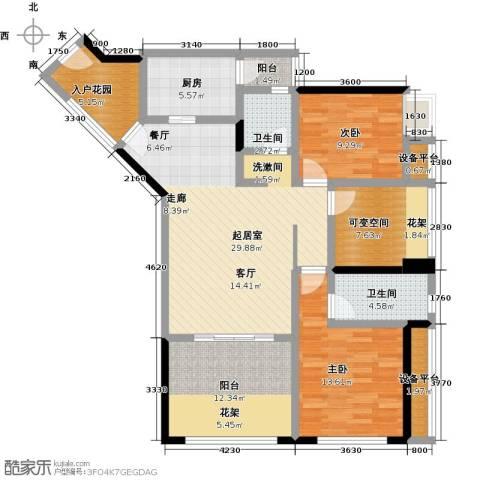 中融金湖名城,御湖2室0厅2卫1厨112.00㎡户型图
