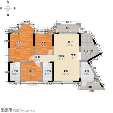 龙汇・领峰3室0厅2卫1厨143.00㎡户型图