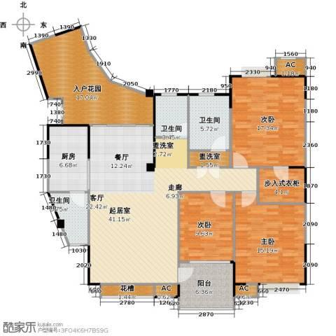 美好家园3室0厅3卫1厨184.00㎡户型图