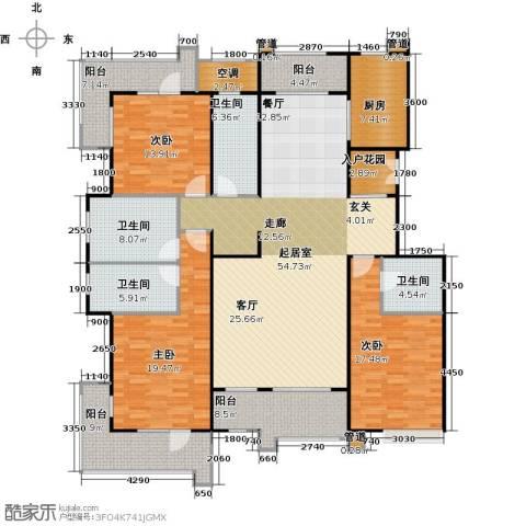 梧桐府3室0厅4卫1厨213.00㎡户型图