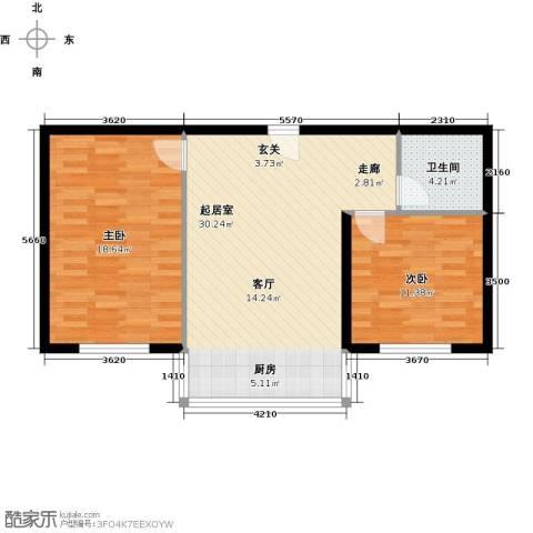 铭丰・渤海明珠家园2室0厅1卫0厨89.00㎡户型图