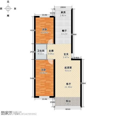 铭丰・渤海明珠家园2室0厅1卫0厨119.00㎡户型图