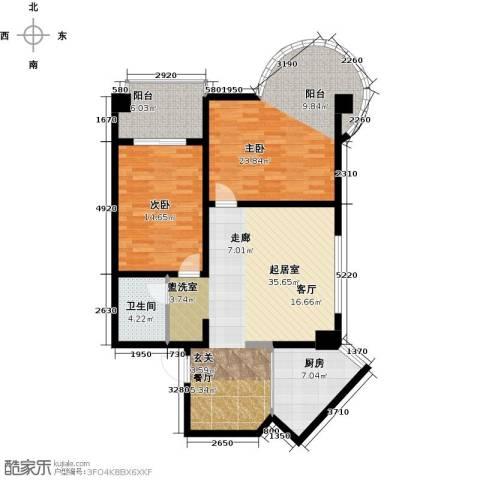 南阳长安玉龙苑2室0厅1卫1厨111.00㎡户型图