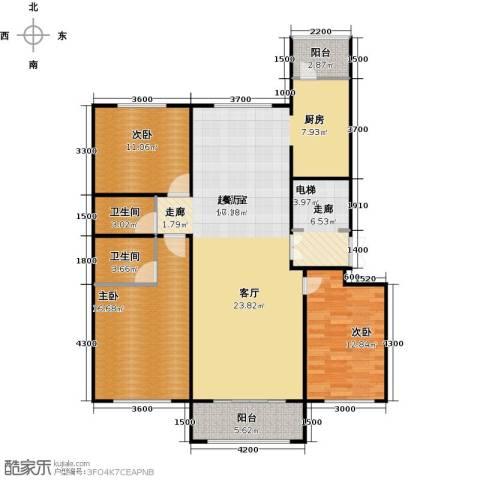 月亮湾3室0厅2卫0厨151.00㎡户型图