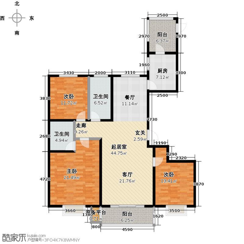 融和时代137.86㎡A1-23室2厅2卫 137.86㎡户型3室2厅2卫