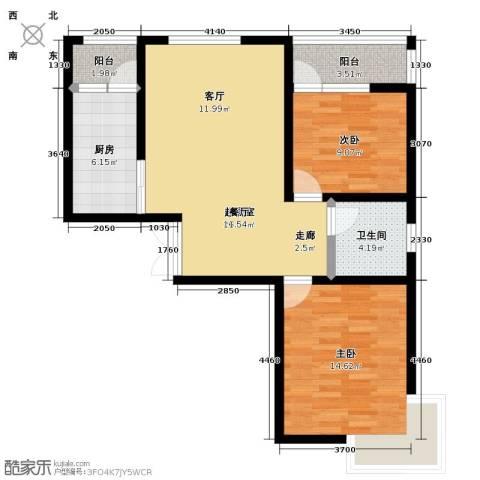 锦华广场2室0厅1卫1厨95.00㎡户型图
