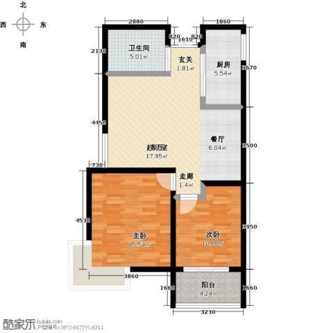 锦华广场2室0厅1卫1厨98.00㎡户型图