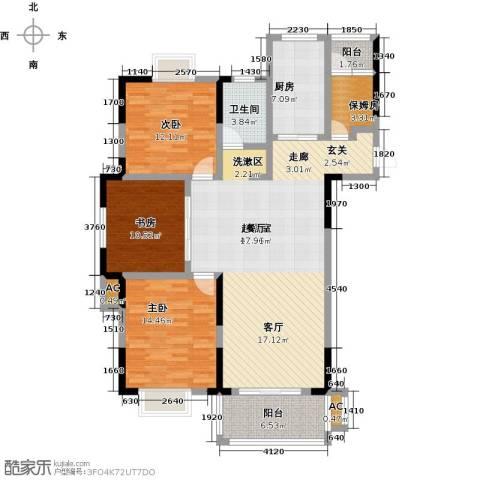 嘉宇万豪名苑3室0厅1卫1厨119.00㎡户型图