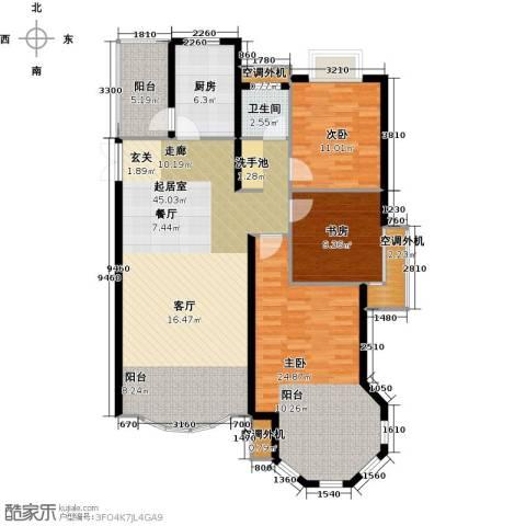 中南世纪花城3室0厅1卫1厨119.86㎡户型图