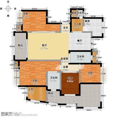 皇马公寓4室0厅3卫1厨182.00㎡户型图