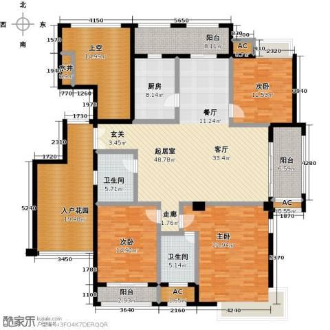 皇马公寓3室0厅2卫1厨174.06㎡户型图