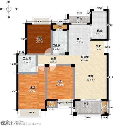 皇马公寓3室0厅2卫1厨130.00㎡户型图
