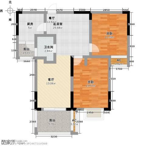 嘉宇万豪名苑2室0厅1卫1厨80.00㎡户型图