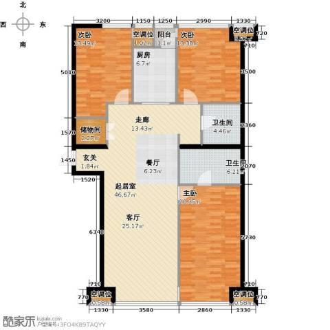 UHN国际村3室0厅2卫1厨163.00㎡户型图