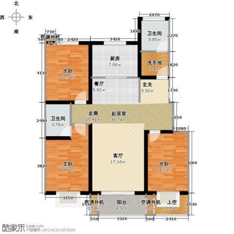 亿博豪轩3室0厅2卫1厨110.00㎡户型图