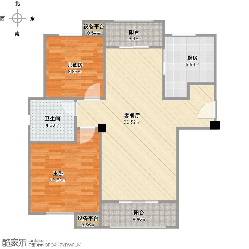 统建天成美雅9号楼H1户型+改后户型图.jpg
