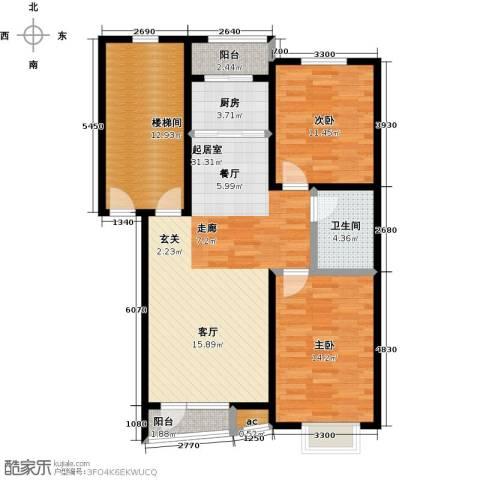 天嘉水晶城2室0厅1卫1厨89.00㎡户型图
