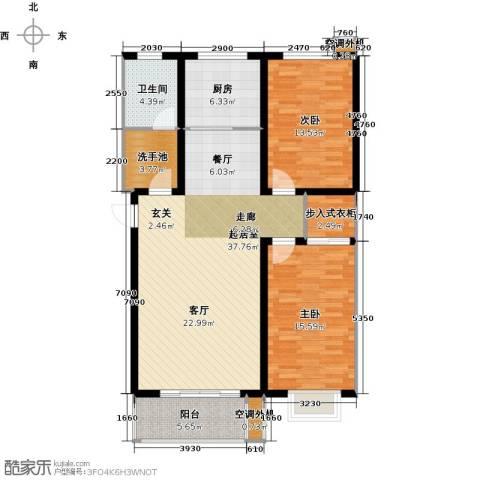 亿博豪轩2室0厅1卫1厨102.00㎡户型图