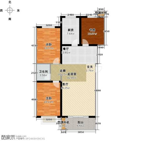 亿博豪轩3室0厅1卫1厨108.00㎡户型图