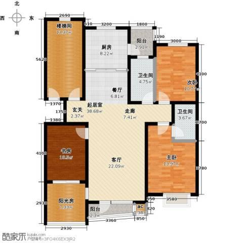 天嘉水晶城3室0厅2卫1厨133.00㎡户型图