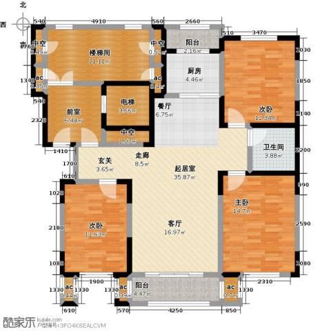 天嘉水晶城3室0厅1卫1厨126.00㎡户型图