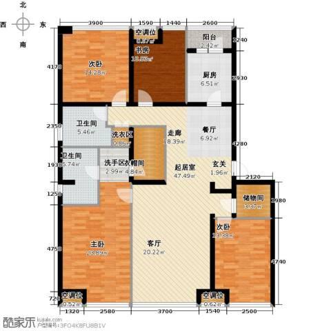 UHN国际村4室0厅2卫1厨198.00㎡户型图