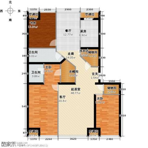 UHN国际村3室0厅2卫1厨180.00㎡户型图