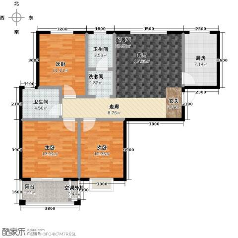 成博牧马庄园3室0厅2卫1厨97.34㎡户型图