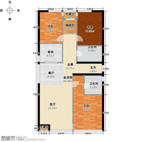 UHN国际村3室0厅2卫1厨152.00㎡户型图