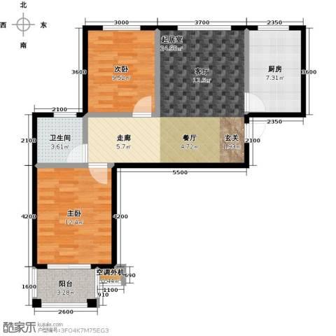 成博牧马庄园2室0厅1卫1厨69.83㎡户型图