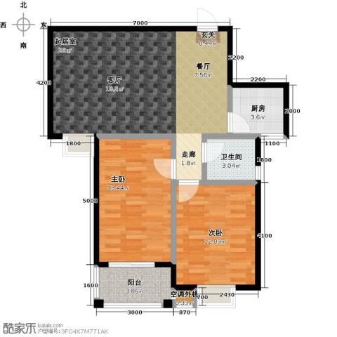 成博牧马庄园2室0厅1卫1厨73.68㎡户型图