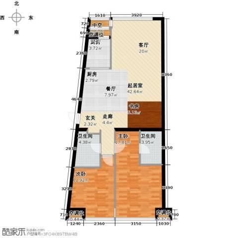 UHN国际村2室0厅2卫1厨126.00㎡户型图