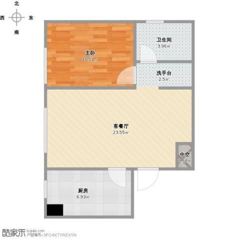 华润凯旋门1室1厅1卫1厨62.00㎡户型图