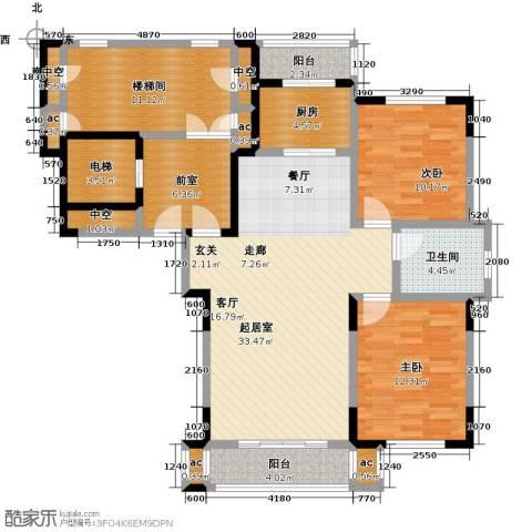 天嘉水晶城2室0厅1卫1厨99.00㎡户型图