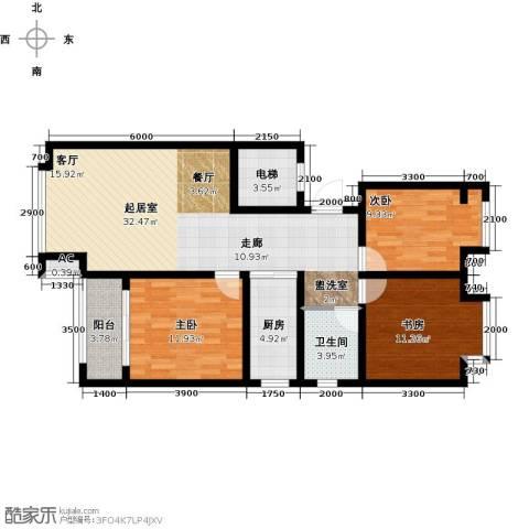 荣盛香醍荣府3室0厅1卫1厨119.00㎡户型图