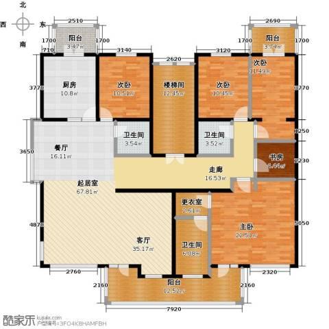 中房水木兰亭5室0厅3卫1厨209.00㎡户型图