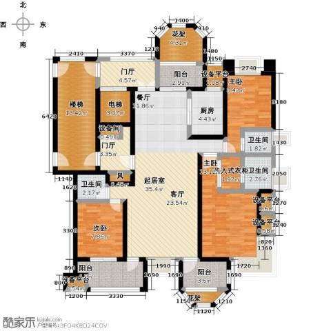 中豪东湖一品3室0厅3卫1厨142.00㎡户型图
