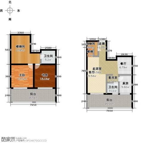 广厦丽水金城2室0厅2卫1厨158.00㎡户型图