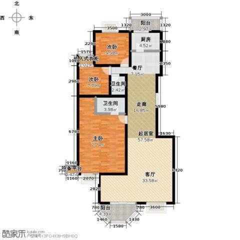 空港米兰花园3室0厅2卫1厨185.00㎡户型图
